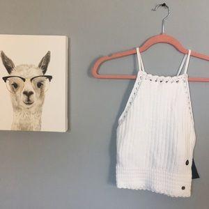 Hollister Crochet crop tank